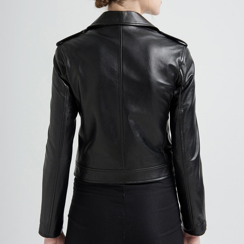 Acquista Gours Giacche In Vera Pelle Donna Giacca Moto Breve Moda Nero Rosso Classico Stile Punk Cappotto Donna In Pelle Di Montone 227 A $146.9 Dal