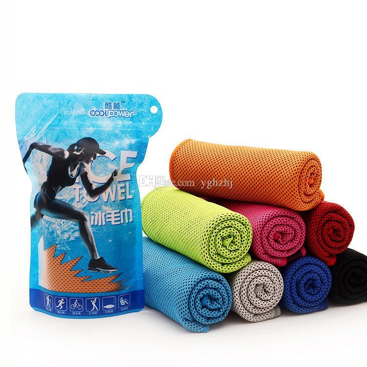 Asciugamano freddo di artefatto estate all'ingrosso sensazione fredda fresco sport all'aria aperta asciugamano freddo, doppio colore coreano freddo raffreddamento rapido