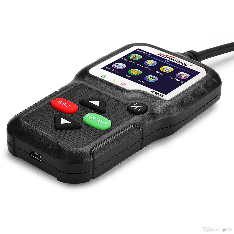 Factory Direct 2018 Miglior OBD2 diagnostico automobilistico di esplorazione KONNWEI KW680 OBD2 scanner automatico 8 lingue auto Scanner Codice Grab