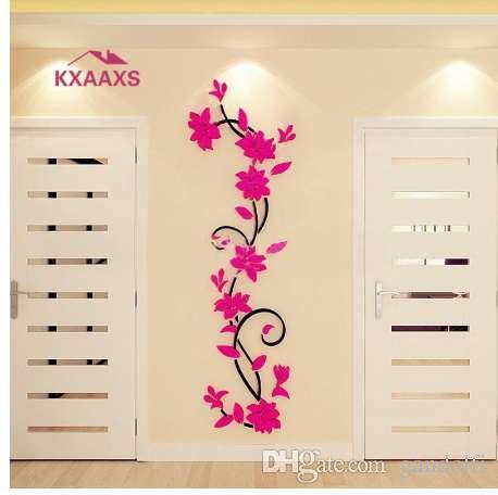 Pegatinas De Pared Decoración Hogar Papel Grande Flores Salón Dormitorio Papel Pintado Calcomanía