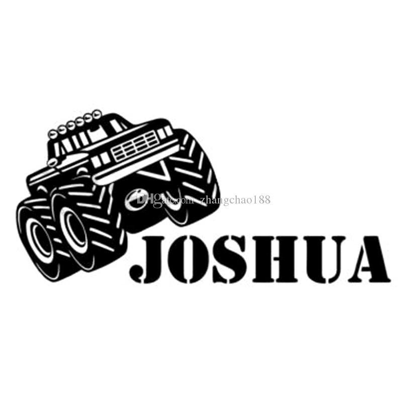 Monster truck joshua styling car sticker black / silver ca-011
