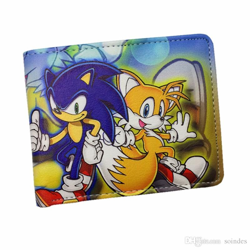 Sonic The Hedgehog Anime Wallet Pu Cartoon Super Sonic Wallets For Student Teenager Characters Purse French Wallet White Wallet From Soindes 24 95 Dhgate Com