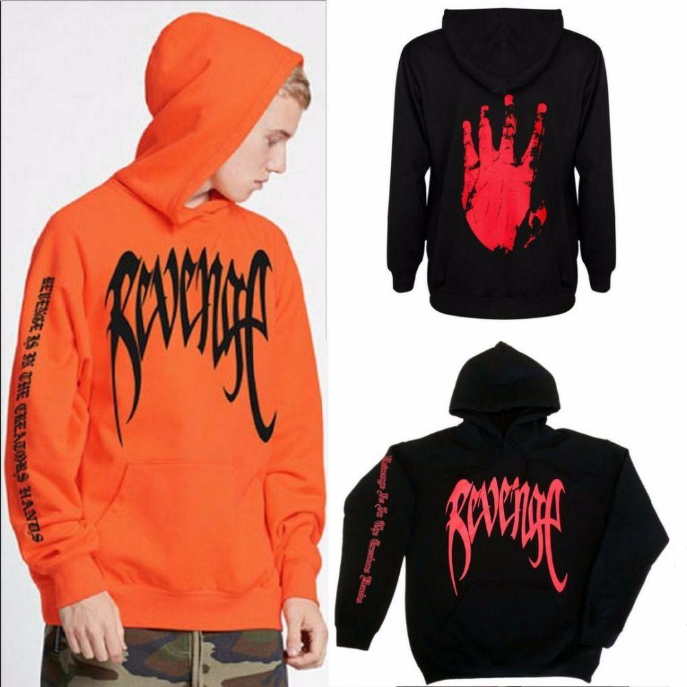 XXXTentacion Bad Vibes Forever Unisex Black w// Red Print REVENGE KILL HOODIE