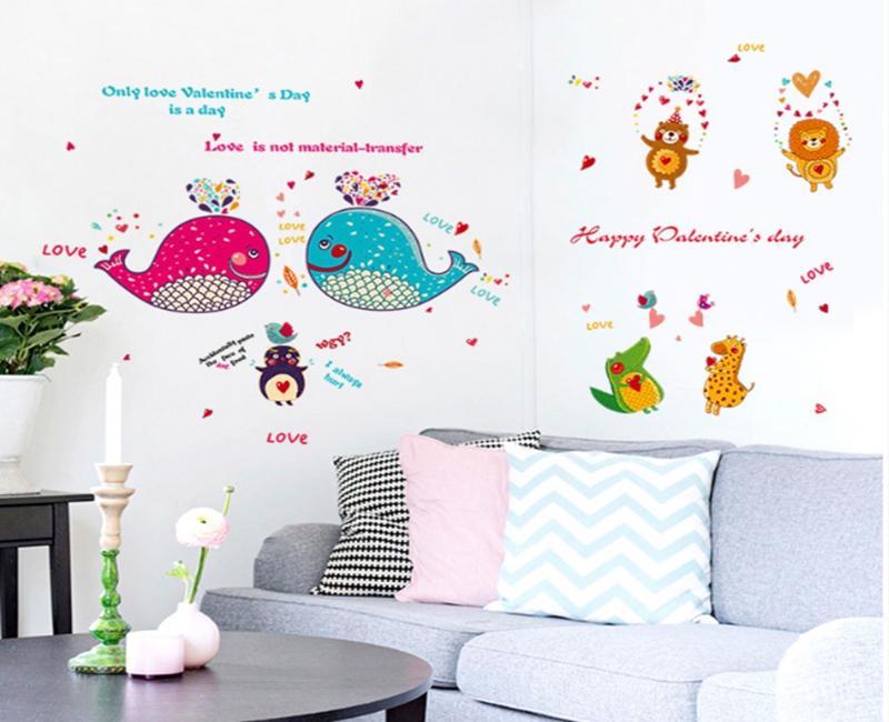 Großhandel 2 Teile / Los Cartoon Dolphin Fisch Tiere Wandaufkleber Für  Kinderzimmer Badezimmer Fliesen Glas Kinder Wandtattoos Home Dekorationen  Von ...
