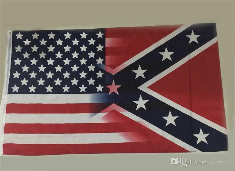 Nueva bandera americana de 90 * 150 cm con bandera de la guerra civil rebelde confederada nuevo estilo venta caliente 3x5 pie bandera 30 piezas DHL