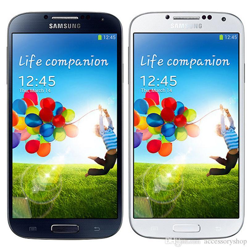 Refurbado original Samsung Galaxy S4 I9500 i9505 5.0 pulgadas cuádruple 2GB RAM 16GB ROM 13MP 3G 4G LTE Desbloqueado Android Smart Phone DHL 10pcs