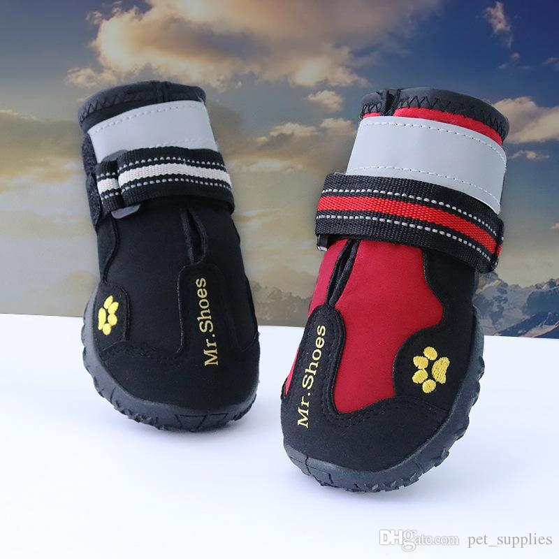 New Design 4pcs Waterproof Pet Shoes Outdoor Sport Boot Protect Not To Hurt Fashion Dogs Shoes for Large Dogs Labrador Husky Shoes