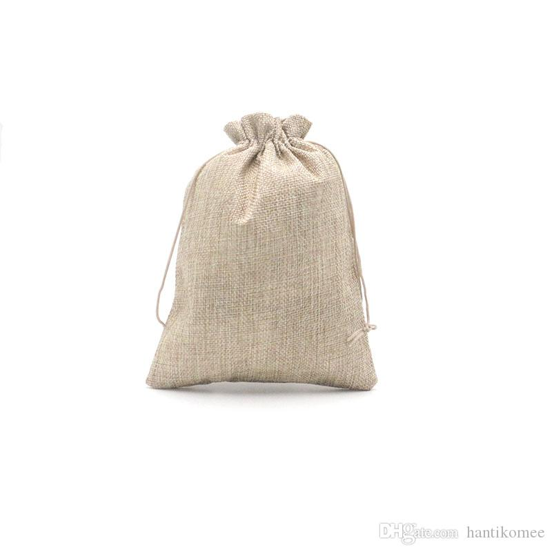 Natural Color 20*30cm Jute Bag 50PCS/lot Wholesale Fashion Christmas Wedding Gift Candy Bag Jewelry Packaging Drawstring Pouches