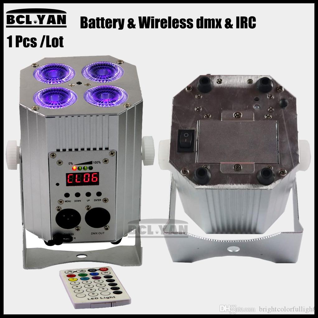 New mini cheap price 4pcs 18w RGBWA UV 6 IN 1 Freedom led par Wireless DMX Remote battery powered Handle light for DJ