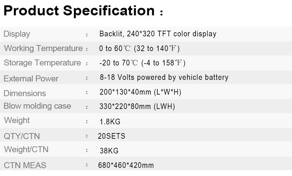 Automotive Diagnostic tool Car Scanner Diagnosis OBD2 Airbag ABS SAS SRS_14