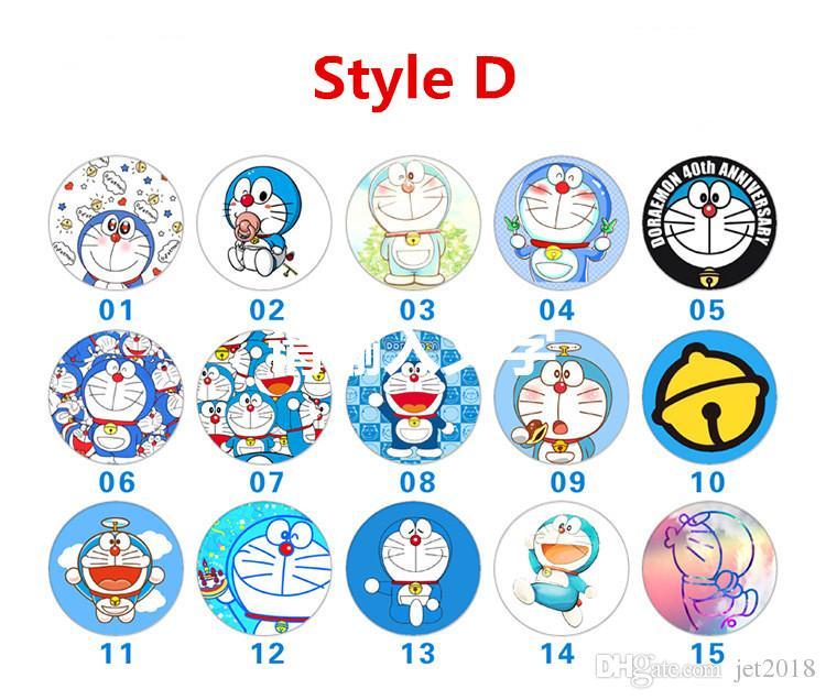 support Doraemon Multi-fonction voiture support de téléphone Vibrato live artefact cadeau logo personnalisé poster paresseux téléphone portable support anneau support