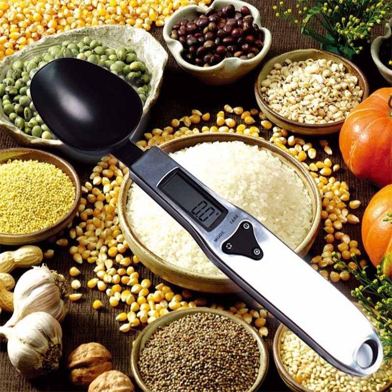 500g / 0.1g Portable Digital Digital Kitchen Cucchiaio dosatore Gram Electronic Spoon Peso Volumn Food Scala precisa Nuova alta qualità