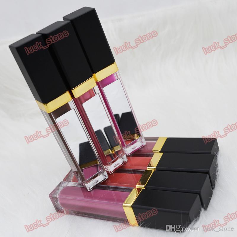 Hiçbir logo 41 renk sıvı parlak Sıcak Satış Kolay Pigmentli Özel Etiket Makyaj Mat Ayna tüp Lipgloss logonuzu yazdırmak
