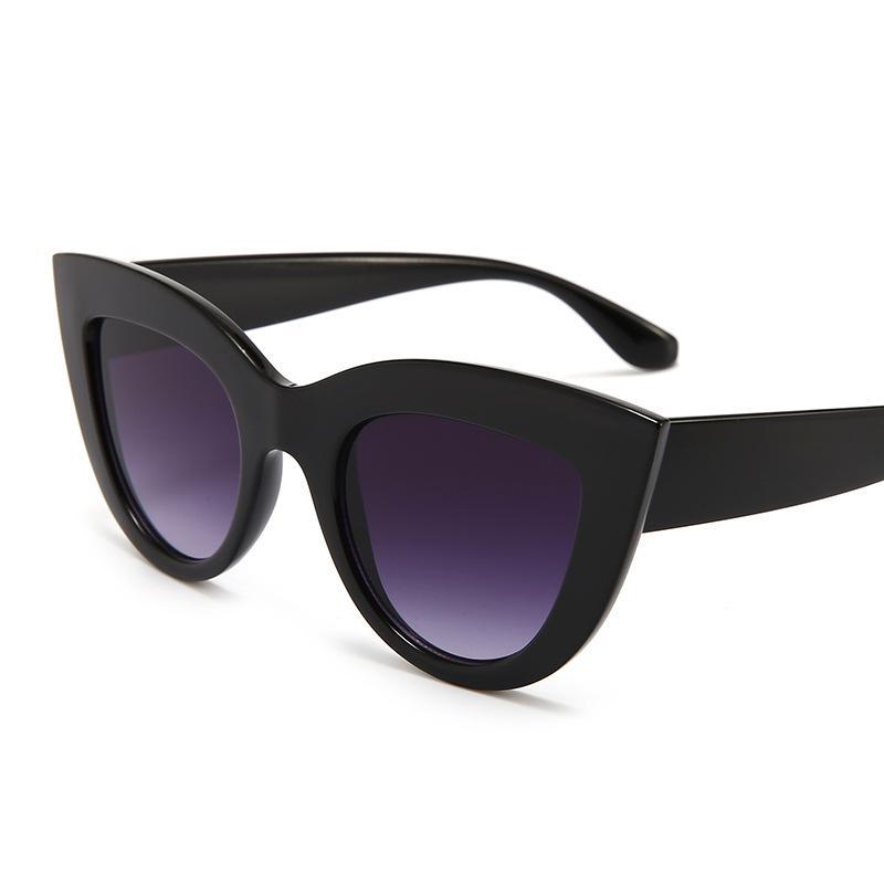 mejor sitio web ed4ed 7814f Compre 2019 Nuevo Ojo De Gato Mujer Gafas De Sol Tintadas Lente De Color  Hombres Gafas De Sol Con Forma Vintage Gafas De Sol Gafas De Sol Azules ...