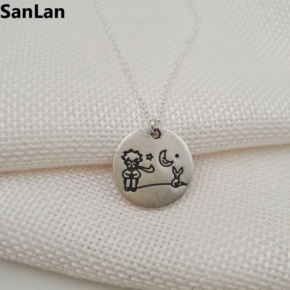 10pcs / lot piccolo principe e volpe ciondolo piccola principessa collana di gioielli per le donne per il bambino cartone animato animale carino collane SanLan