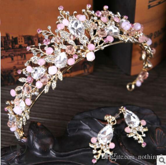 مجوهرات الزفاف الشعر مجوهرات الزفاف تاج تاج زهرة الكريستال المشبك الشعر لعيد ميلاد زفاف أزياء الساخنة