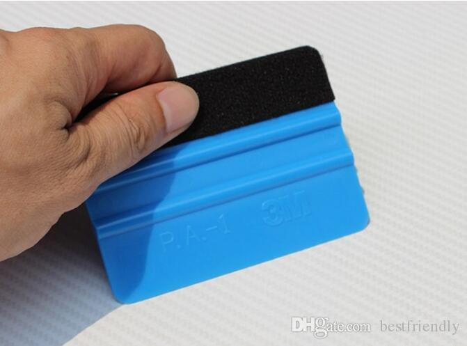 10 cm x 7 cm Filmi Küçük Kazıyıcı El Paster Araçları Aracı Yüksek Sıcaklığa Dayanıklı 3 M bez kazıyıcı dört yan kazıyıcı filmi yapışma aracı