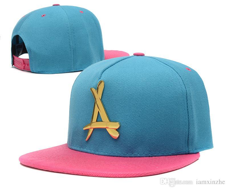 HOT1! NEWEST THA Alumni Iron standard hip-hop hat Gold Logo Leather Snapback Caps Black Red Brand Hip Hop Men's Adjustable sports hats