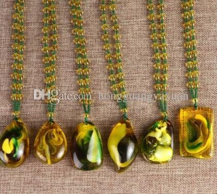 Catena tradizionale da uomo e da donna stile folk catena lunga stile imitazione pendente ambra collana accessori abito appendere catena decorazione g