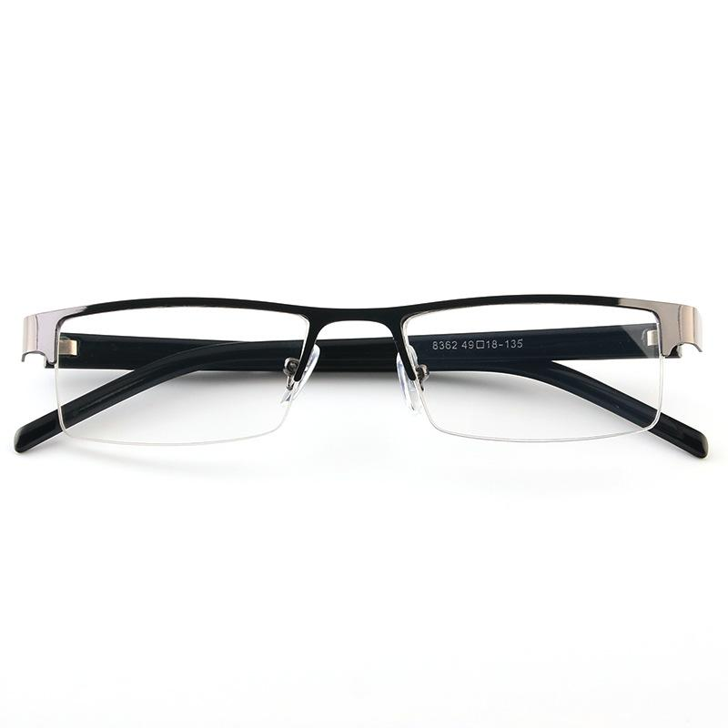 Reading Glasses Brand Fashion Clear Lens Metal Frame Eyewear Men Vintage Eyeglasses Half Rim Old People Presbyopic Glasses