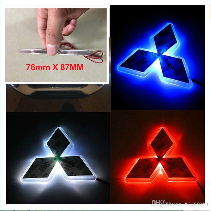 Auto Led Sticker Logo Badge Emblem 2D LED Light Lamp 12V White Red Blue Color For Mitsubishi