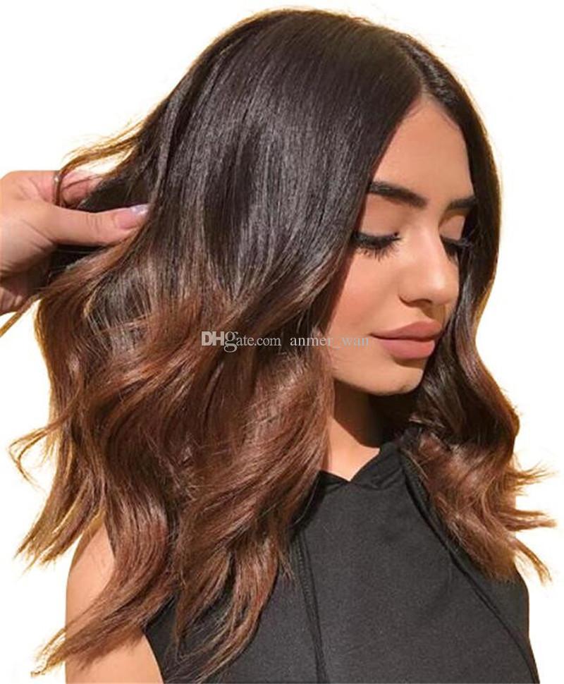 130% Natural Wave Brazilian Virgin Hair Lace Front Wigs Short Bob Human Hair Glueless Full Lace Human Hair Wigs For Black Women