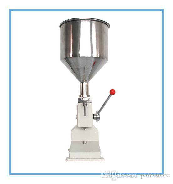 Manual food filling machine 1-50ml hand pressure stainless paste dispensing liquid packaging equipment cream oil racking machine