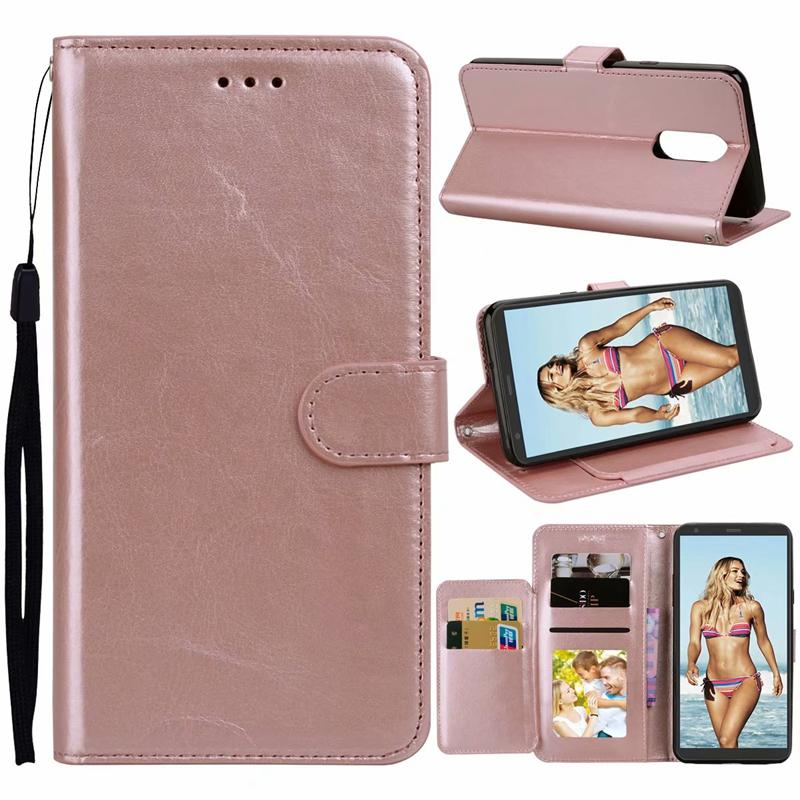 sale retailer 5953f e129b Leather Wallet Case For Moto E5 Plus Supra,Play Cruise,E4 USA,Galaxy J7  2017 Sky Pro Crazy Horse Pouch Flip Cover+TPU ID Holder Stand Card Leather  ...
