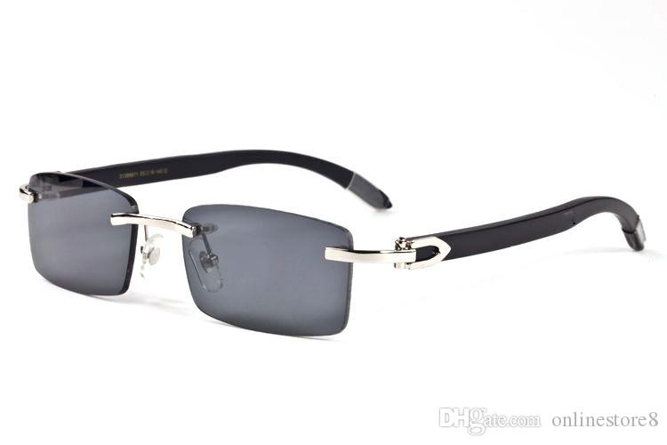 فرنسا الفاخرة الأبيض بافالو القرن نظارات الخيزران الخشب نظارات الصيف أنماط 2018 أزياء العلامة التجارية مصمم النظارات الشمسية للرجال النساء