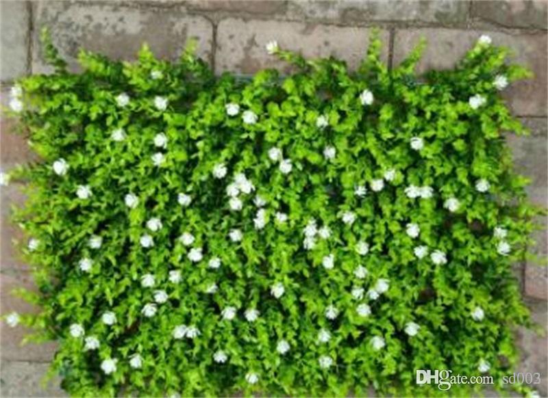 Fake Plant Wall Lawns Alfombra Decorar Artificial Flower Plantación verde Eucalyptus Greensward Garden Decor House Ornaments 12 5jy jj