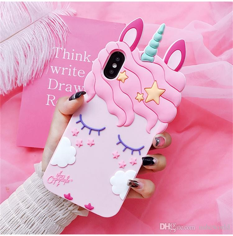 separation shoes 99332 b95c8 Fashion Unicorn Phone Case For Iphone X XR XS MAX Cute Cartoon Horse Soft  Back Case Cover For Iphone 6 7 8 Plus Customized Phone Cases Cute Phone ...