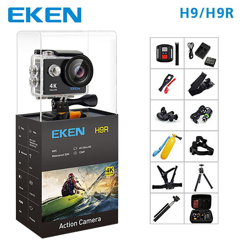 Cámara EKEN H9 Action Sport H9R wifi Ultra HD Mini Cam 4K / 25FPS 1080p / 60fps 720P / 120FPS Cámara impermeable para video y deportes a prueba de agua