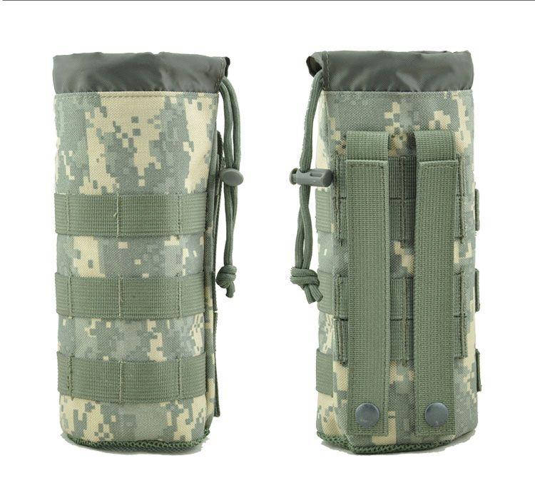 Men Nylon Kettle Water Bottle Pocket Bag Tactical Military Mesh Waist Fanny Pack