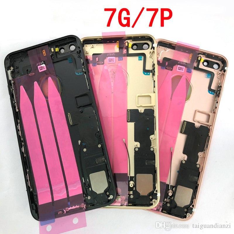 "para iPhone 7plus 7p 5.5 ""Carcasa Tapa de la batería Tapa trasera Tapa del chasis Carcasa Tapa trasera iphone 7 plus carcasa, envío gratis"