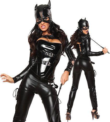 Fetish Clubwear Halloween Dress Sexy wild cat Siamese cat girl bronzing Cosplay black Catwoman Costume Party dress CA0104