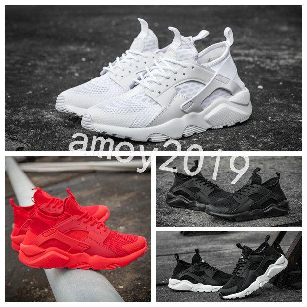 best service 74406 92aff 2018 Air Huarache 4 Men Women Running Shoes All White Huraches Zapatos  Ultra Breathe Huaraches Mens Trainers Hurache Sports Sneakers Skechers  Running ...