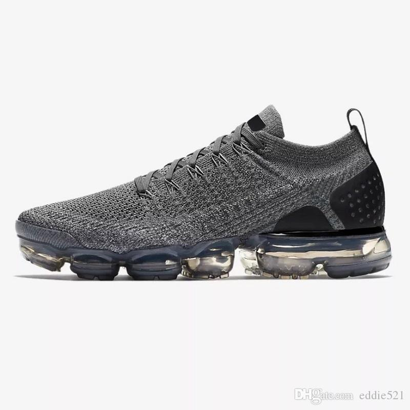 more photos d79d2 0815d 2018 New Vapormax 2.0 Men Shoes Black White Hot Punch Triple White Womens  Sneakers Athletic Trainers Sport Shoe Size 5.5 11 Walking Shoes Flat Shoes  ...