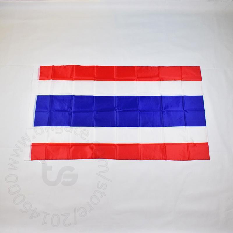 태국 / 태국 플래그 국가 무료 배송 3X5 FT / 90 * 150cm 매달려 국기 태국 / 타이어 홈 장식 배너