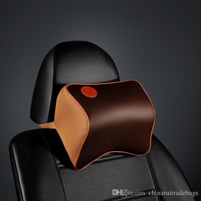 Siège-auto Oreiller appui-nuque Coussin repose-tête Universal Fit SUV berlines siège avant / arrière pièces pour véhicules automobiles mousse à mémoire de forme Cuir PU