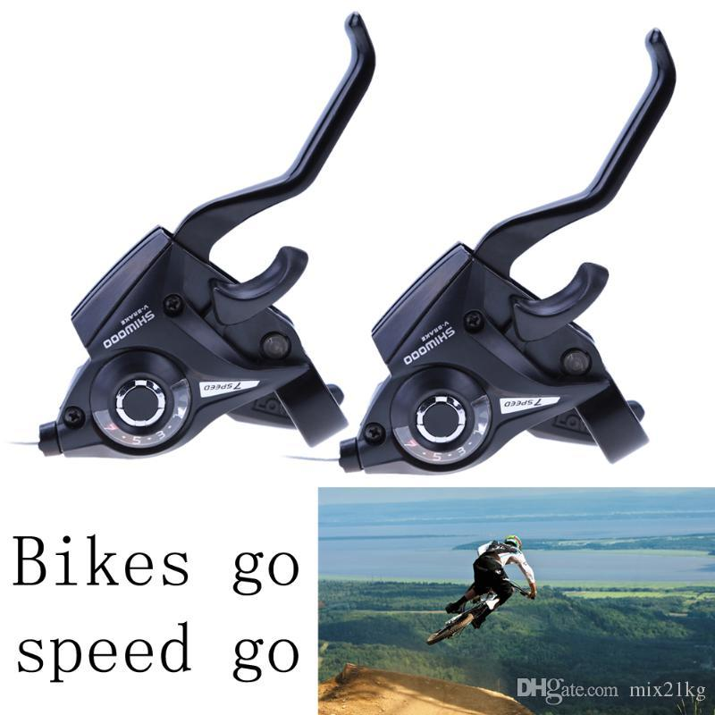 21 Speed Bicycle Shifter Brake Conjoined DIP Derailleurs Mountain Bike Road Handle Crank Levers Left 3 Right 7 Brake Shifter Set