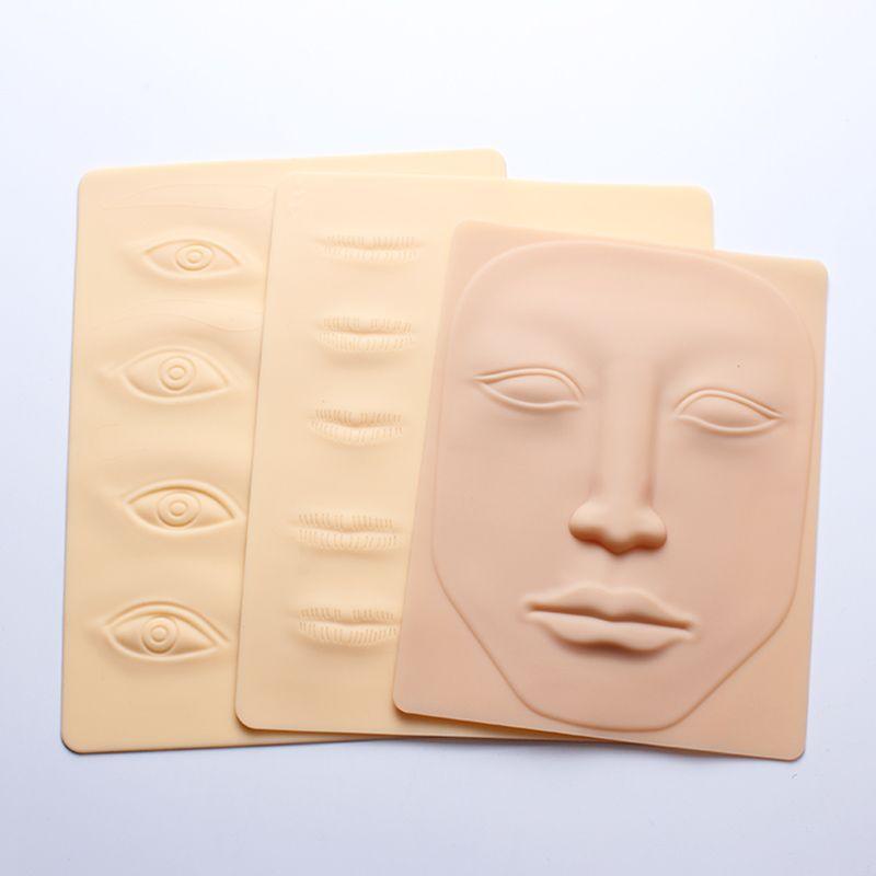 ماكياج 3D سيليكون الدائم الوشم التدريب الجلد الممارسة وهمية فارغة العيون الشفاه الوجه لMicroblading الوشم آلة مبتدئ
