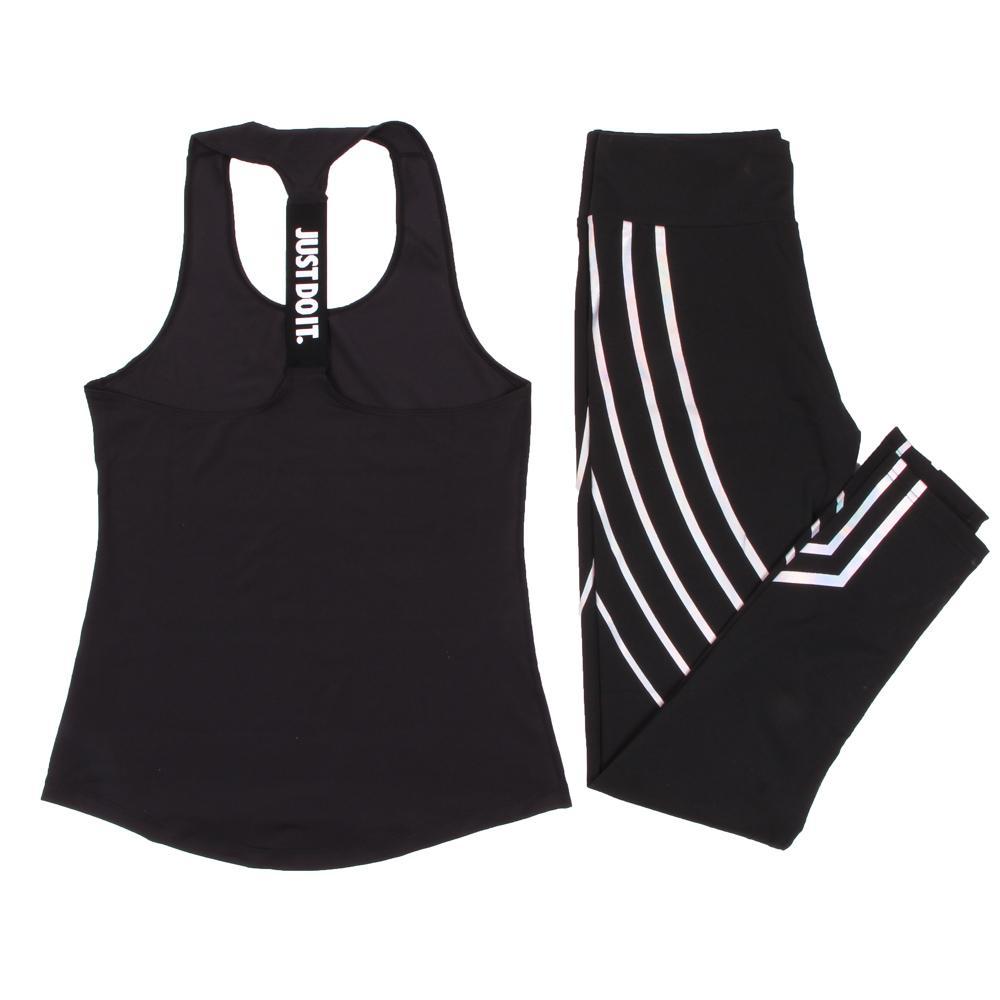 النساء اليوغا مجموعة الرياضة أعلى سترة + طماق عاكسة اللياقة البدنية الجري الجوارب الركض تمرين اليوغا طماق الرياضة البدلة