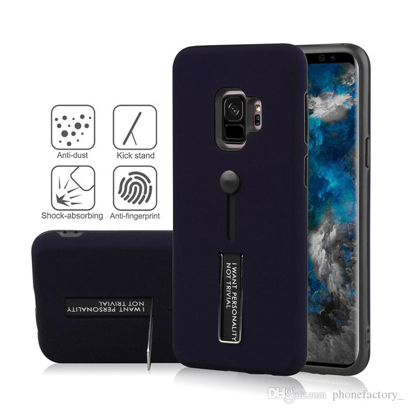 For Samsung S9 S8 Note 8 9 For Iphone XR XS XS Max 8 7 6 Phone Case Slid Card Holder Mobile Back Cover Protector Shockproof