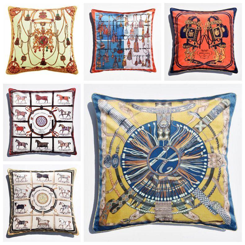 european throw pillow case luxury velvet cushion cover 45cm decorative cojines decorativos para sofa chaise almofada