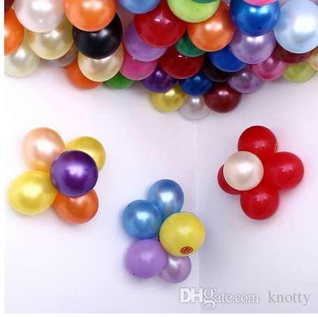 Yüksek Kalite 10 adet / grup 10 inç 1.5g Gümüş Lateks Balon Hava Topları Düğün Doğum Günü Partisi Dekorasyon Için Şişme Şamandıra Balon