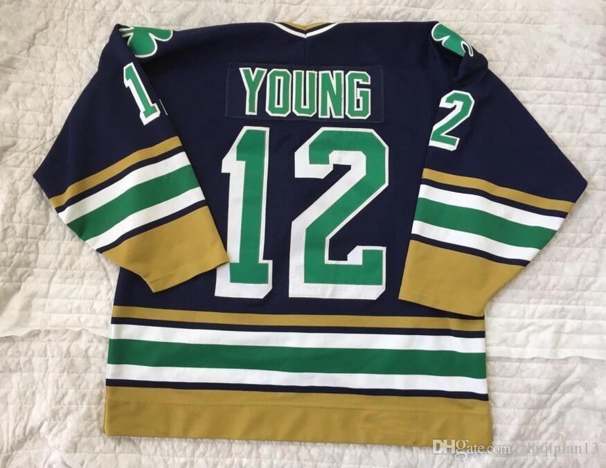 1994 95 Notre Dame 12 Kevin Young Hockey Jersey Embroidery Stitched  Customize Any Number And Name Jerseys UK 2019 From Zhujinlan13 d268f9b92