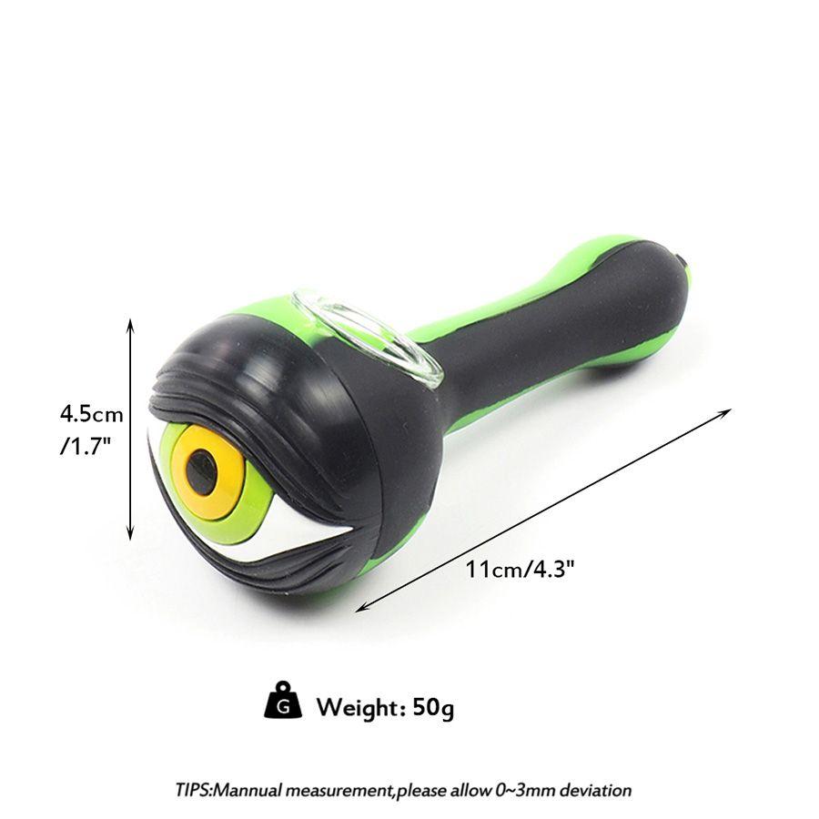Diseño de los ojos más vendiendo la tubería de fumar de alta calidad de alta calidad Silicona de silicona desmontable Tubos de aceite para fumar