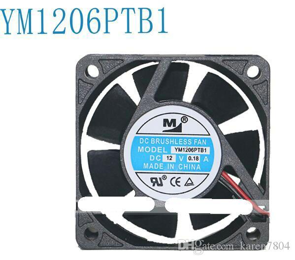 Nytt Original YM1206PTB1 6025 12V 60 * 60 * 25mm Double Ball Bearing Cooling Fan