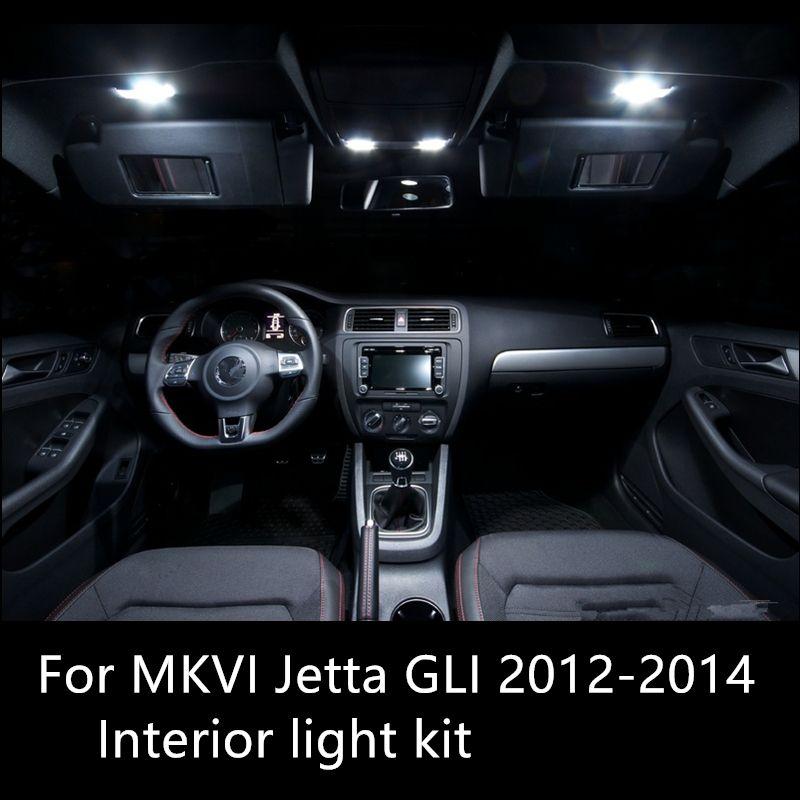 Shinman 9X VW MK6 Jetta6 GLI 2012-2014 Için iç ışık kiti Led Ampul Yüksek Parlak Okuma Lambası Araba İç Işık Aksesuarla
