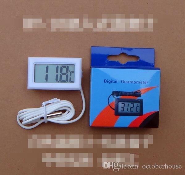 Tela LCD Digital Termômetro Frigorífico Frigorífico Congelador aquário aquário Temperatura -50 ~ 110C GT Com Retail BOX 1M Cabo